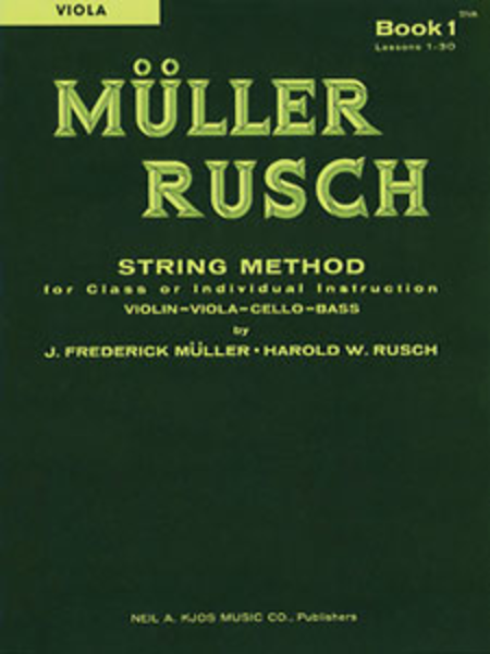 Muller-Rusch String Method Book 1 - Viola