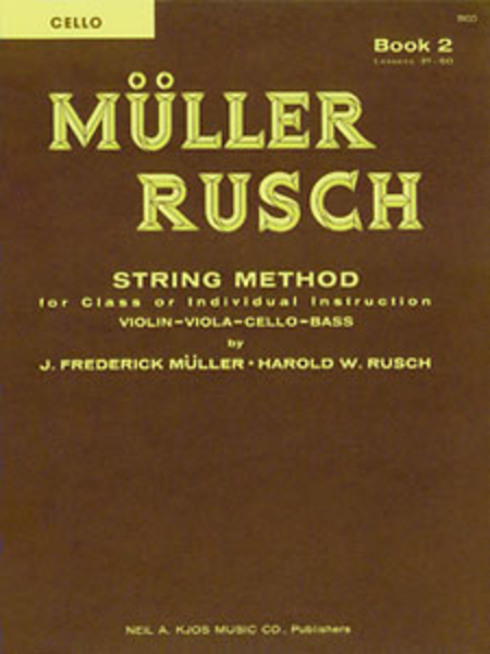 Muller-Rusch String Method Book 2 - Cello