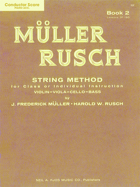 Muller-Rusch String Method Book 2 - Violin