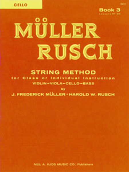 Muller-Rusch String Method Book 3 - Cello