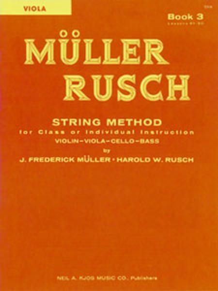 Muller-Rusch String Method Book 3 - Viola