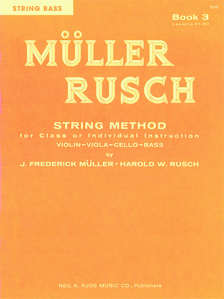 Muller-Rusch String Method Book 3 - Violin