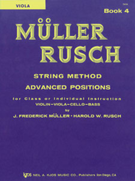 Muller-Rusch String Method Book 4 - Viola