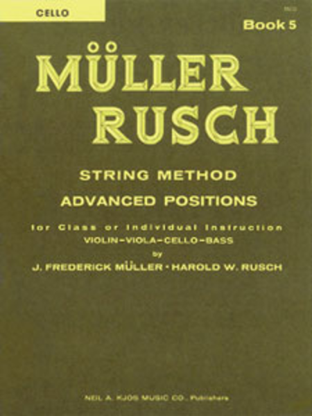 Muller-Rusch String Method Book 5 - Cello