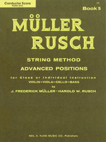 Muller-Rusch String Method Book 5 - Score/Piano