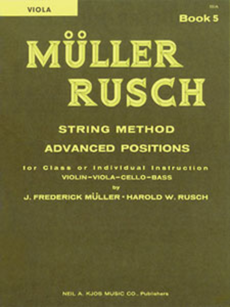 Muller-Rusch String Method Book 5 - Viola