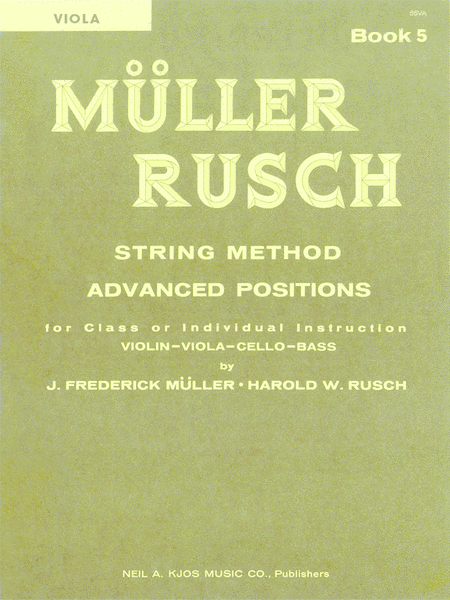 Muller-Rusch String Method Book 5 - Violin