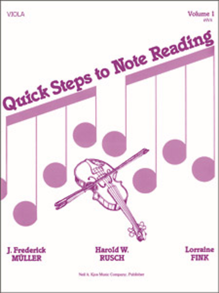 Quick Steps To Notereading, Vol 1 - Viola