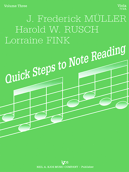 Quick Steps To Notereading, Vol 3 - Viola