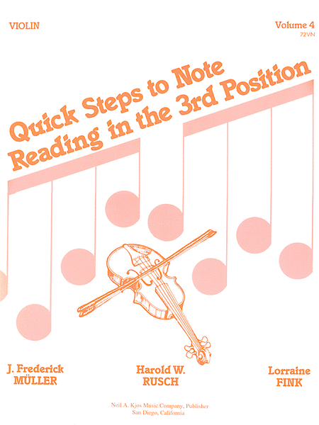 Quick Steps To Notereading, Vol 4 - Violin