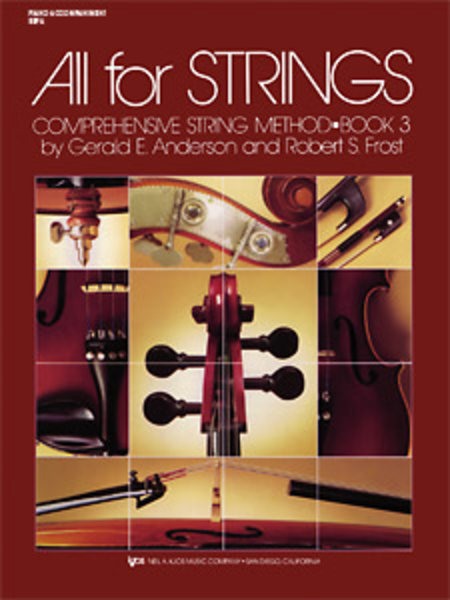 All For Strings Book 3 - Piano Accmp