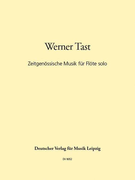 Zeitgenossische Musik fur Flote solo