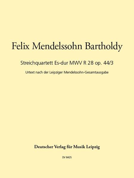 Streichquartett Es-dur op.44/3