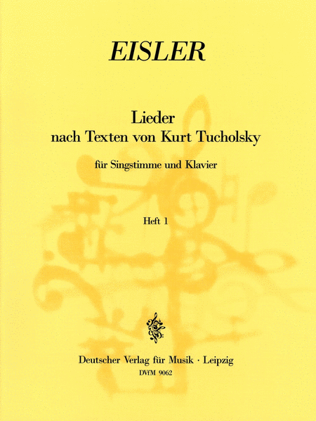 Tucholsky - Lieder Heft 1