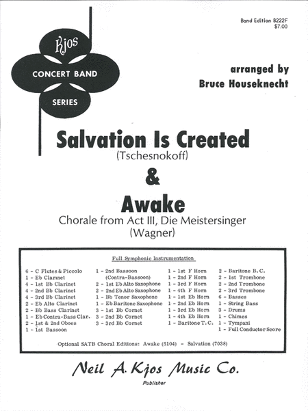 Salvation is Created and Awake - Score