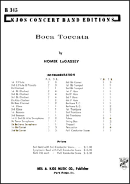 Boca Toccata - Score