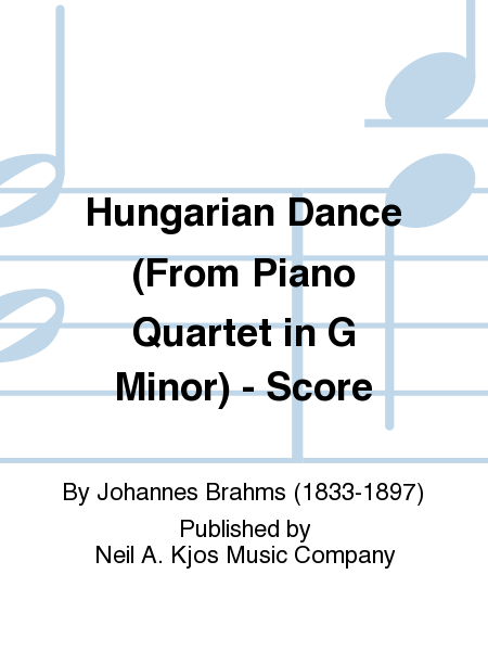 Hungarian Dance (From Piano Quartet in G Minor) - Score
