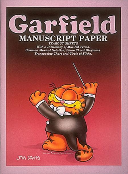 Garfield Manuscript Paper 9 inch. X 12 inch.