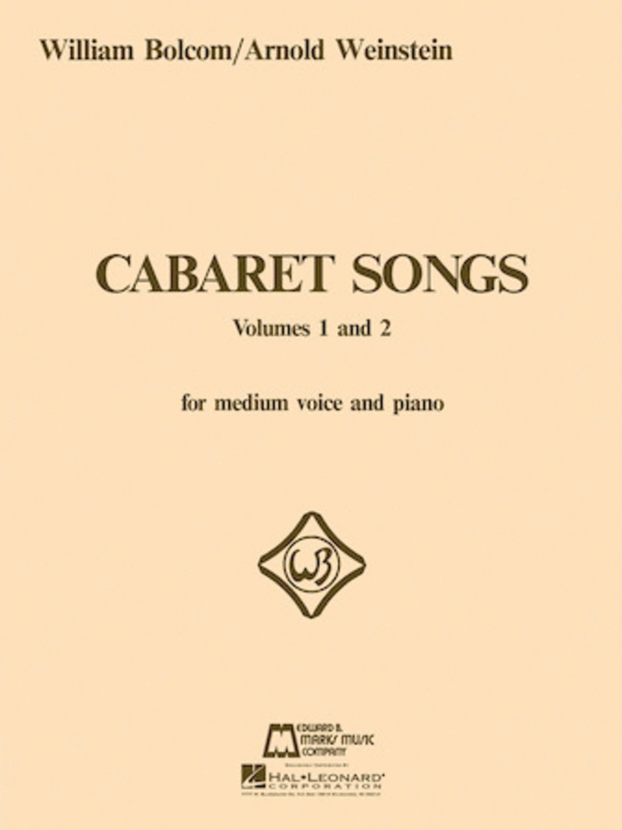 Cabaret Songs - Volumes 1 And 2