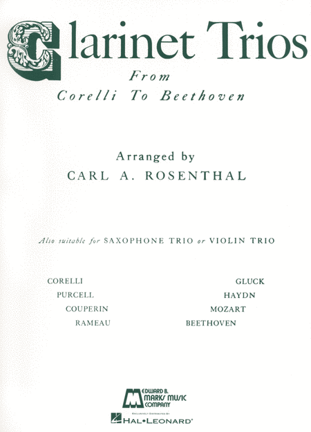 Clarinet Trios from Corelli to Beethoven