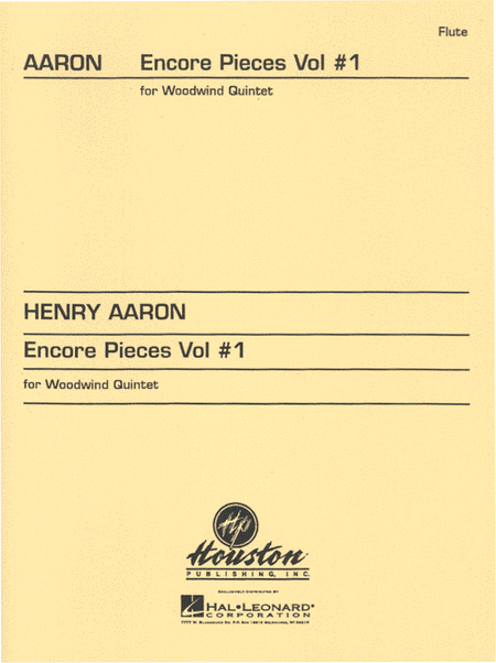 Encore Pieces For Woodwind Quintet, Volume 1 - Flute