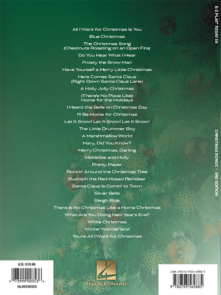 E-Z Play Today #59. Christmas Songs