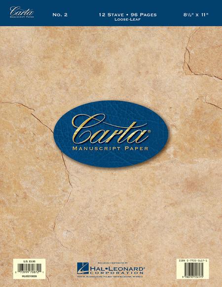 Carta Manuscript Paper No. 2 - Basic