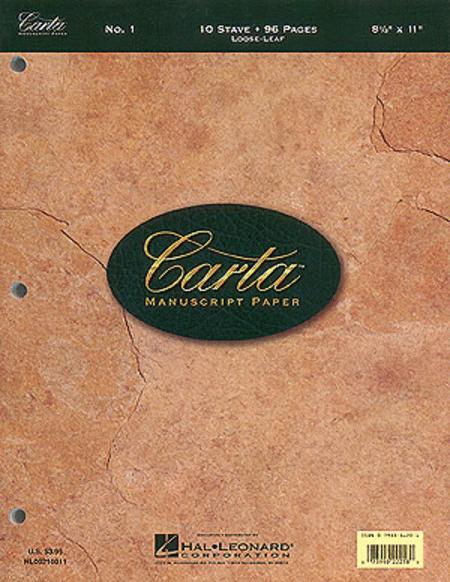 Carta Manuscript Paper No. 1 - Basic