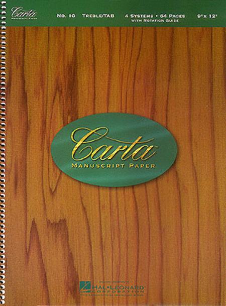 Carta Manuscript Paper No. 10 - Guitar