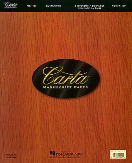 Carta Manuscript Paper No. 16 - Guitar