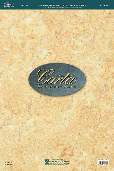 Carta Manuscript Paper No. 22 - Professional
