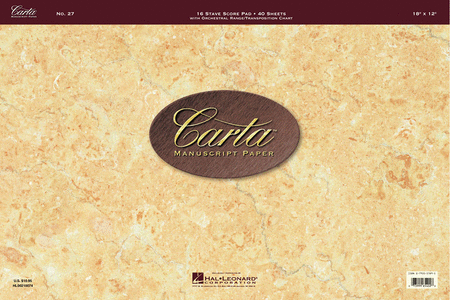 Carta Manuscript Paper No. 27 - Professional