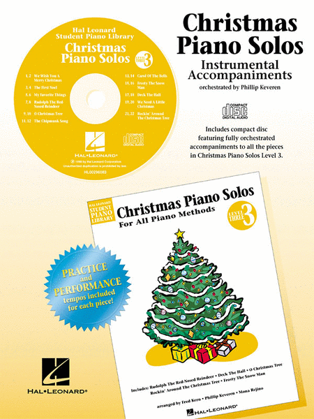 Christmas Piano Solos - Level 3 - CD