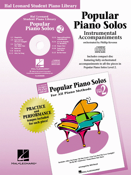 Popular Piano Solos - Level 2 - CD