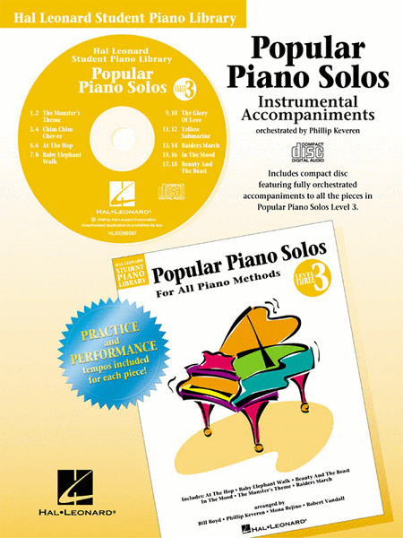 Popular Piano Solos - Level 3 - CD