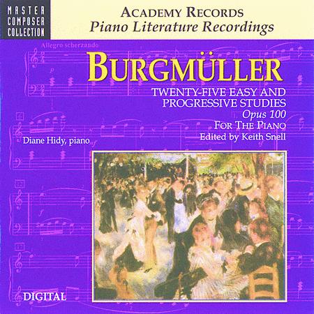 Burgmuller 25 Easy & Progressive Studies Op. 100 (CD)