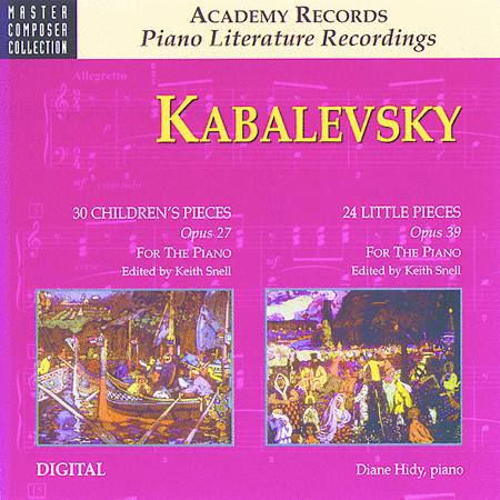 Kabalevsky 24 Little Pieces, Opus 39 (CD)