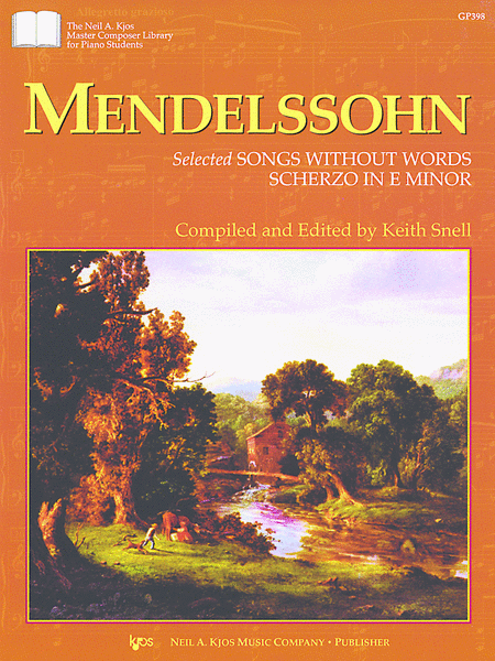 Mendelssohn Selected Songs Without WordsScherzo In E Minor