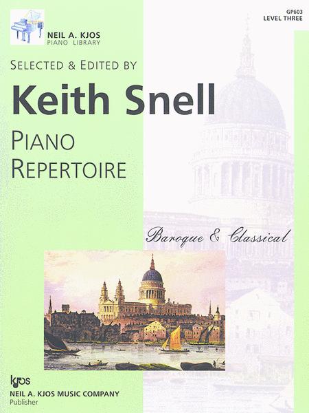 Neil A. Kjos Piano Library Piano Repertoire: Baroque/Classical Level 3