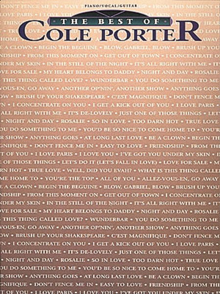 The Best of Cole Porter - Piano/Vocal