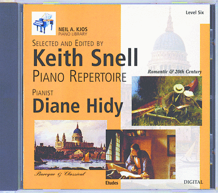 Neil A. Kjos Piano Library CD: Baroque/Classical, Romantic, Etudes, Prep & Level 6