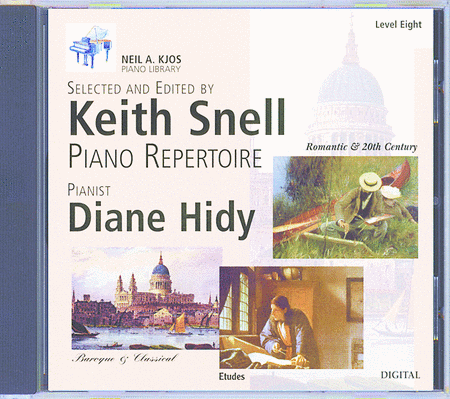 Neil A. Kjos Piano Library CD: Baroque/Classical, Romantic, Etudes, Prep & Level 8