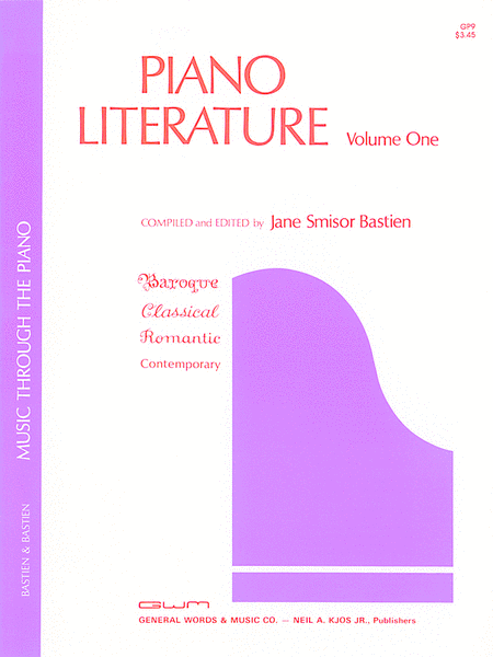 Piano Literature, Volume 1