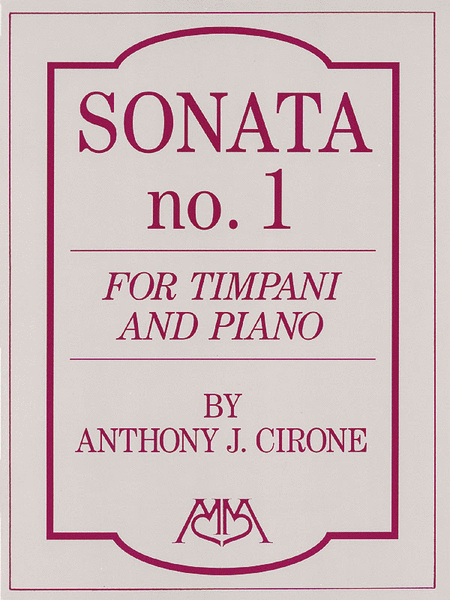 Sonata No.1 for Timpani and Piano