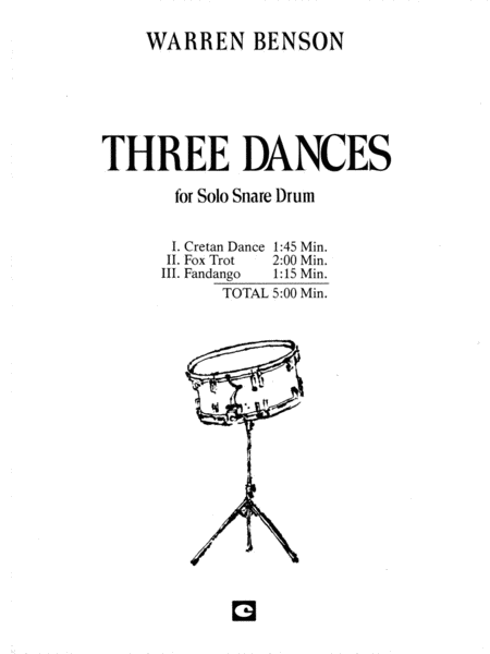 Three Dances (Unaccomp. Solos)