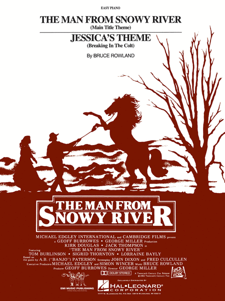 The Man From Snowy River/Jessica's Theme - Easy Piano