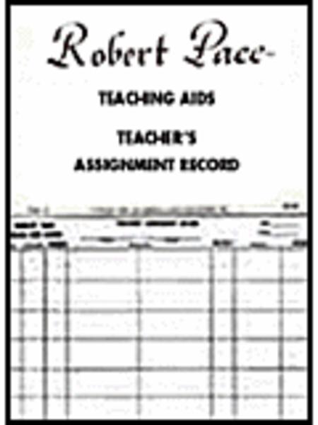 Teaching Aids, Teacher's Assignment Record