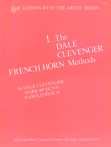 Clevenger French Horn Method, Book 1