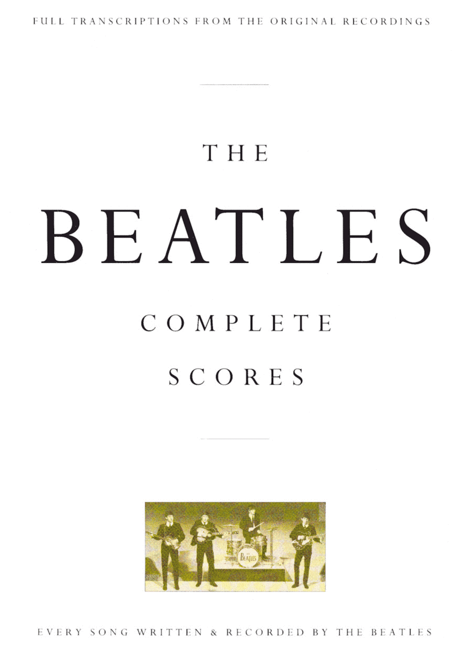 The beatles complete scores sheet music by the beatles sheet the beatles complete scores fandeluxe Gallery