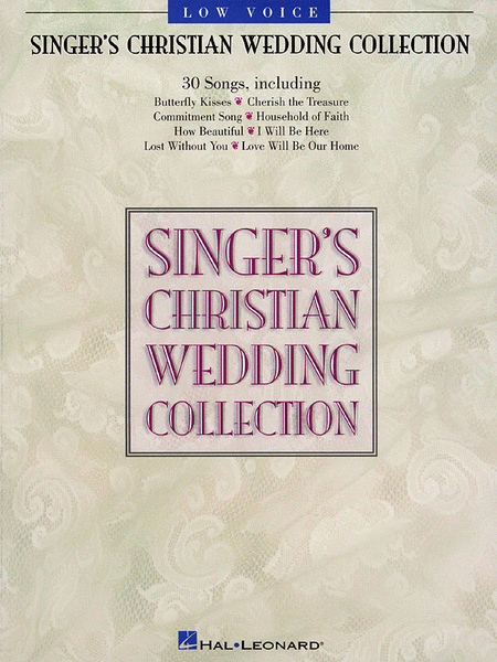 Singer's Christian Wedding Collection - Low Voice